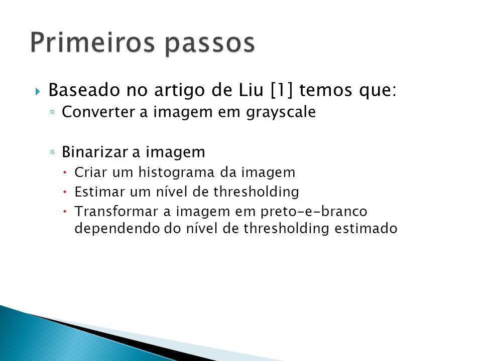 Primeiros passos Baseado no artigo de Liu [1] temos que: